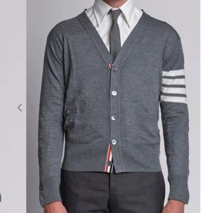Thom Browne Sweaters - Thom Browne 4-BAR MERINO CARDIGAN size 4